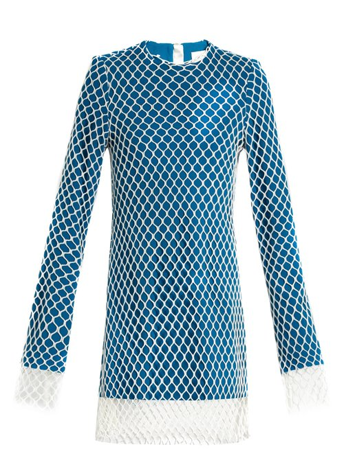 Marques Almeida Layered net and wool mini dress $817