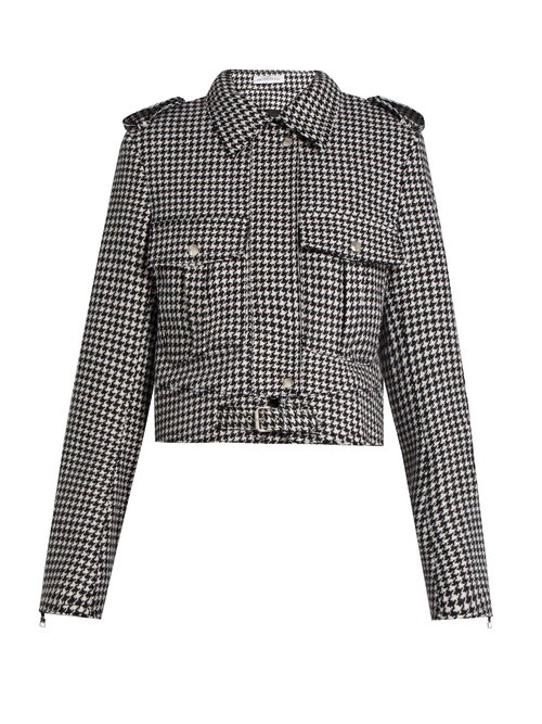 J.W.Anderson Hound's-tooth wool-blend jacket $1,780