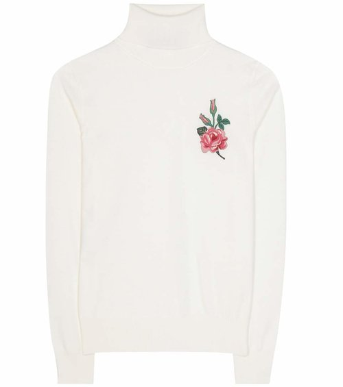 Gucci Embroidered wool turtleneck sweater $847