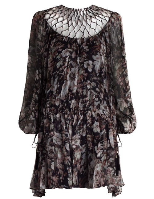 Zimmermann Gossamer Lattice Drawn Dress $795
