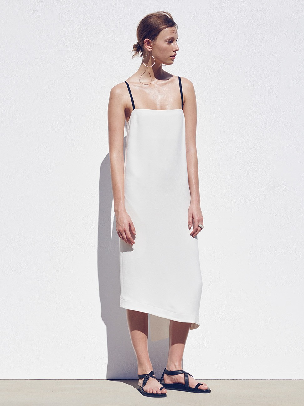Bassike Crepe layering slip dress $595