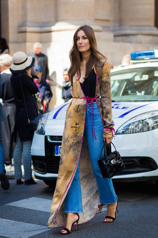 The Attico Liza Printed Silk Long Dressing Gown $1,597