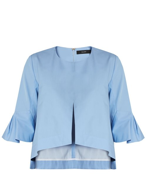 Ellery Neu deconstructed bell-sleeved cotton top $802