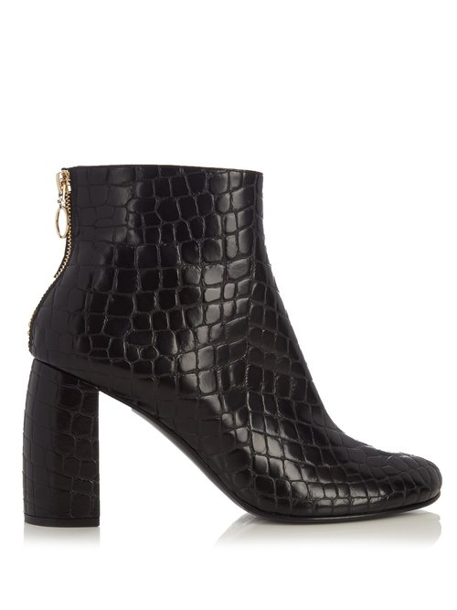 Stella McCartney Block-heel faux-leather ankle boots $770