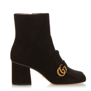 Gucci Marmont fringed suede boots $952