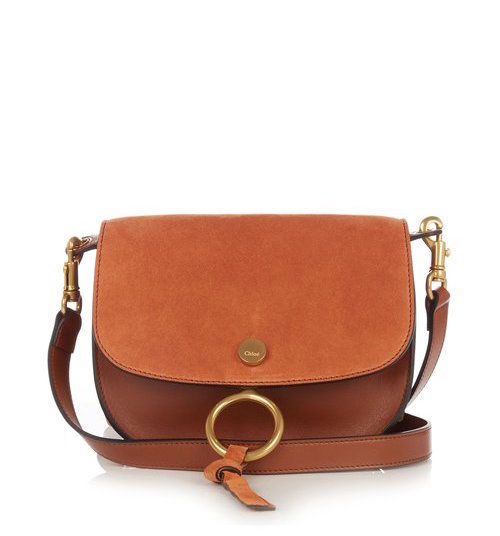 Chloe Kurtis small suede and leather cross-body bag $1,793