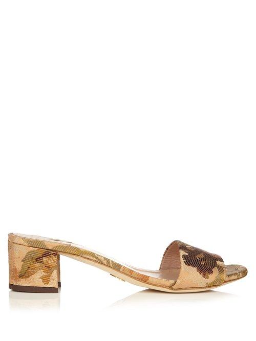 Brother Vellies Solt jacquard block-heel slide sandals $451