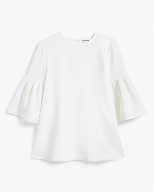 EDIT LS Flute Sleeve Top in White $270