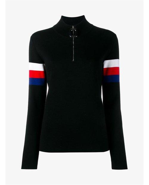 J.W.Anderson Virgin Wool Stripe High Neck Sweater $620