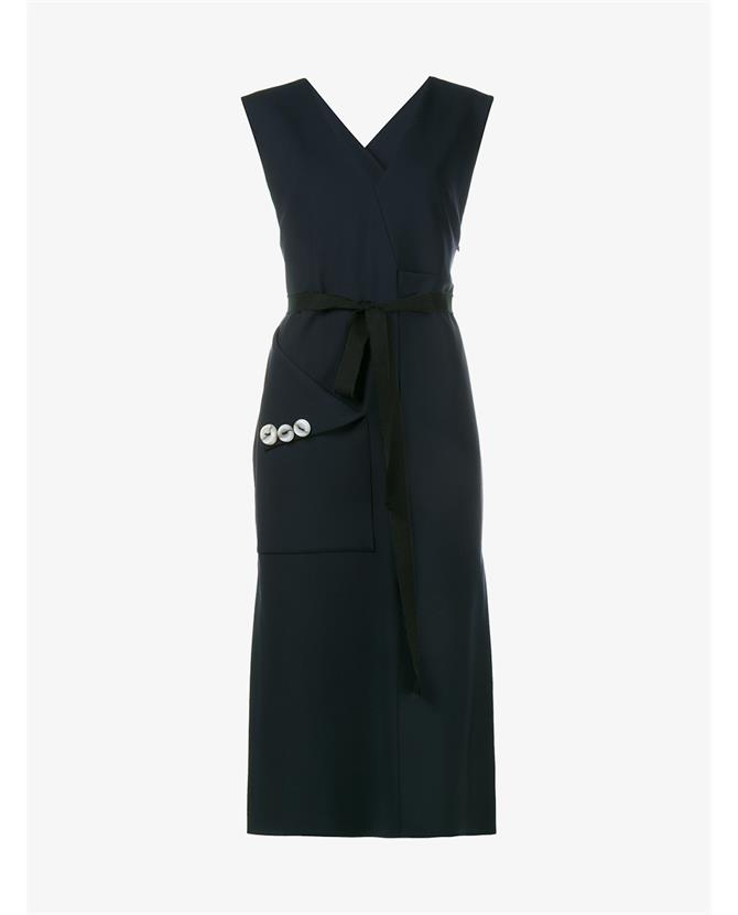 Ellery Chicago Sleeveless Wool Blend Dress $1,460