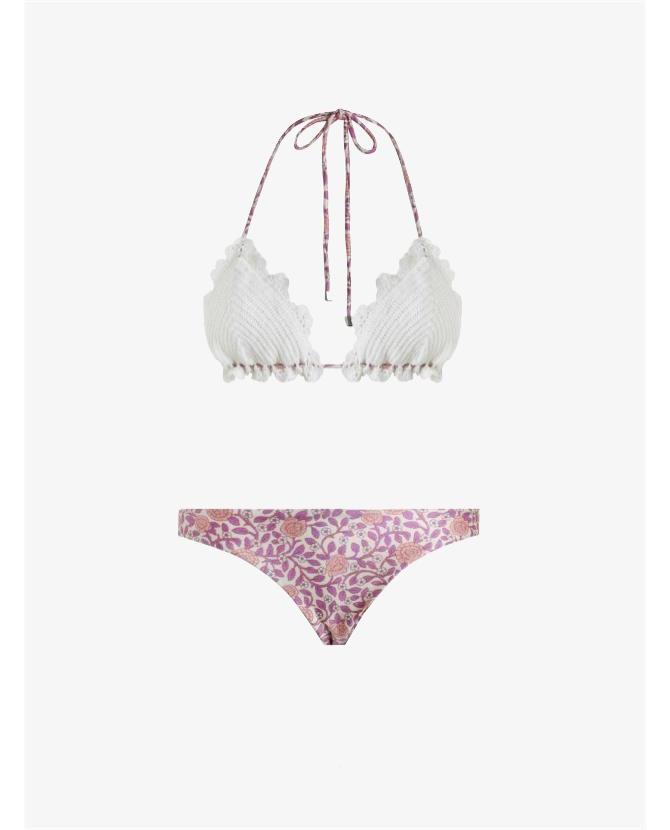 Zimmermann Caravan crochet bra bikini $220