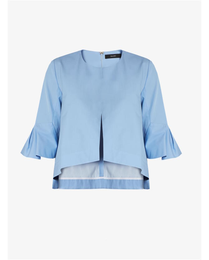 Ellery Neu deconstructed bell-sleeved cotton top $802