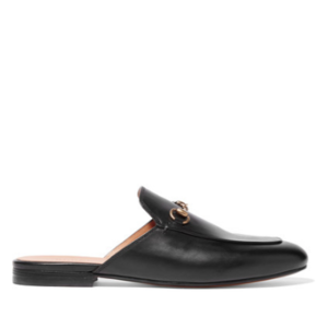 Gucci Horsebit-detailed leather slippers $69