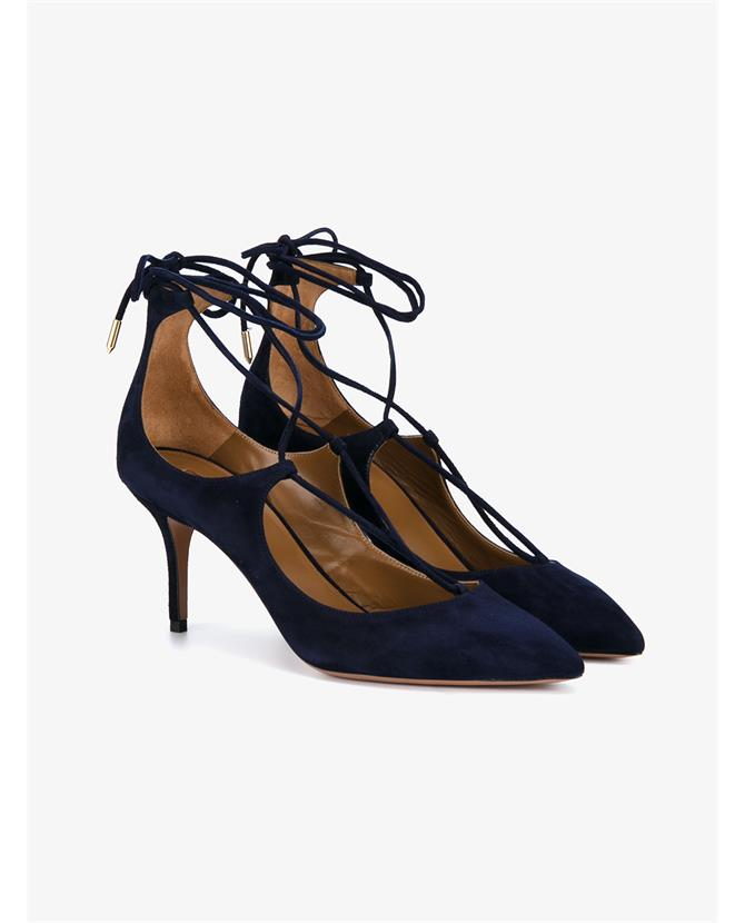 Aquazzura Christy Suede Pumps with Pointed Toe $635