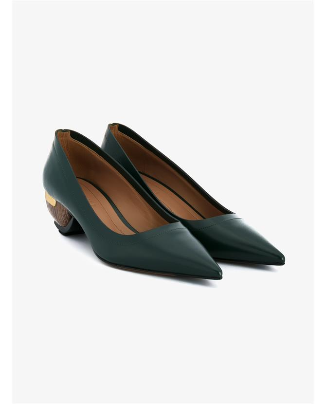 Marni Mid-Heel Point-Toe Leather Shoes $1,180