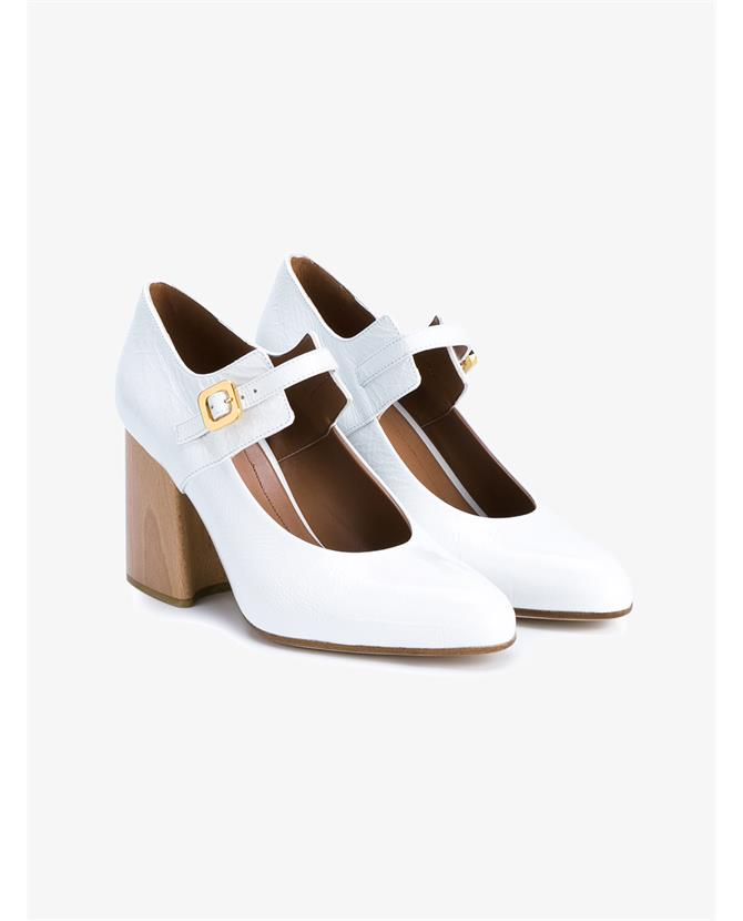 Marni Patent Leather Mary Janes with Wooden Block Heel $921