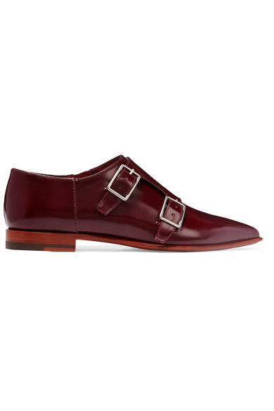 ACNE Studios Masca monk-strap glossed-leather brogues $780