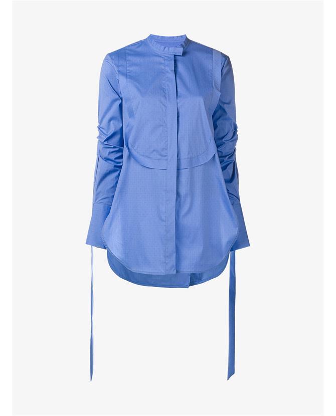 Ellery Melodrama Swiss-dot cotton-blend poplin shirt $747