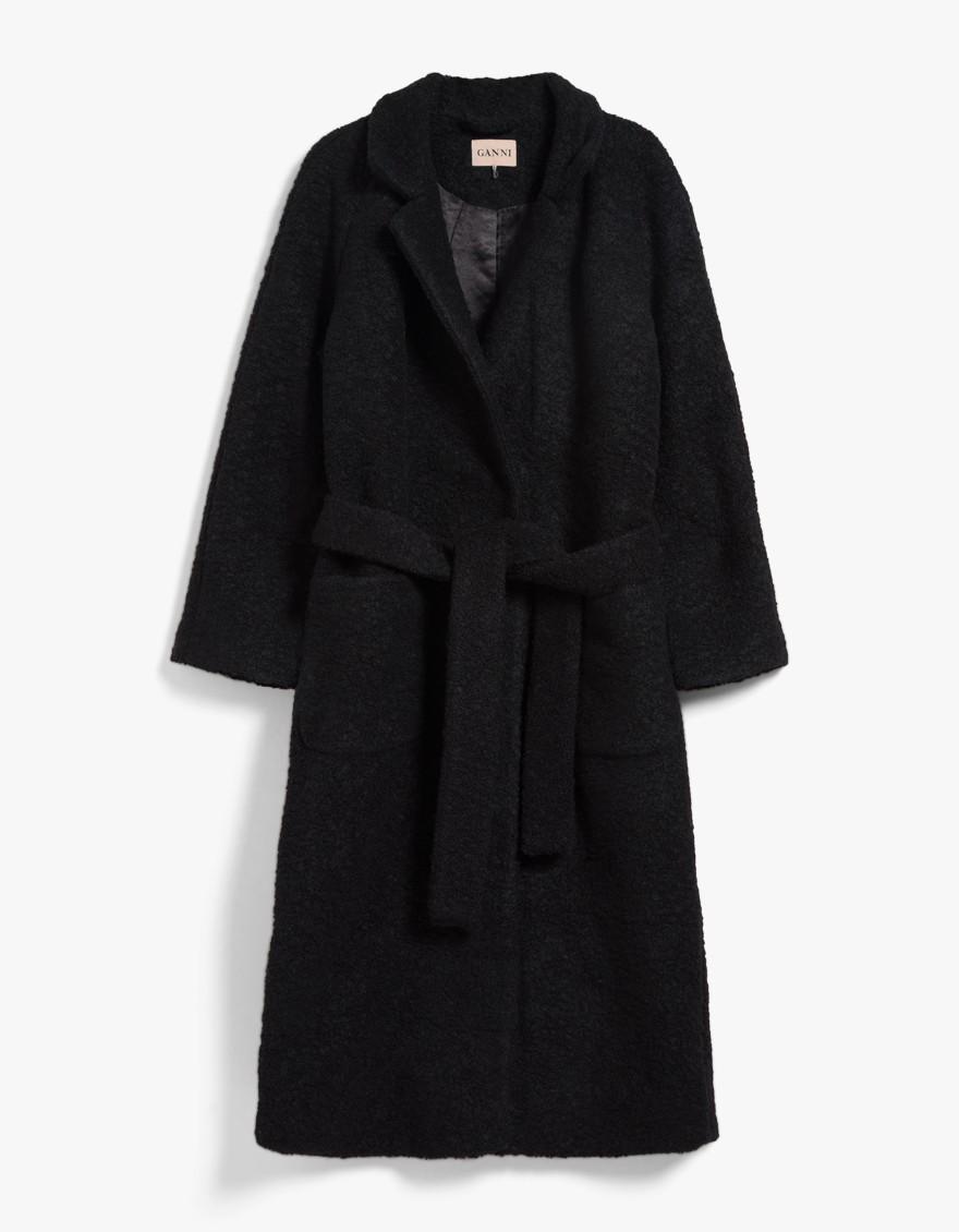 Ganni Fenn wrap coat $375