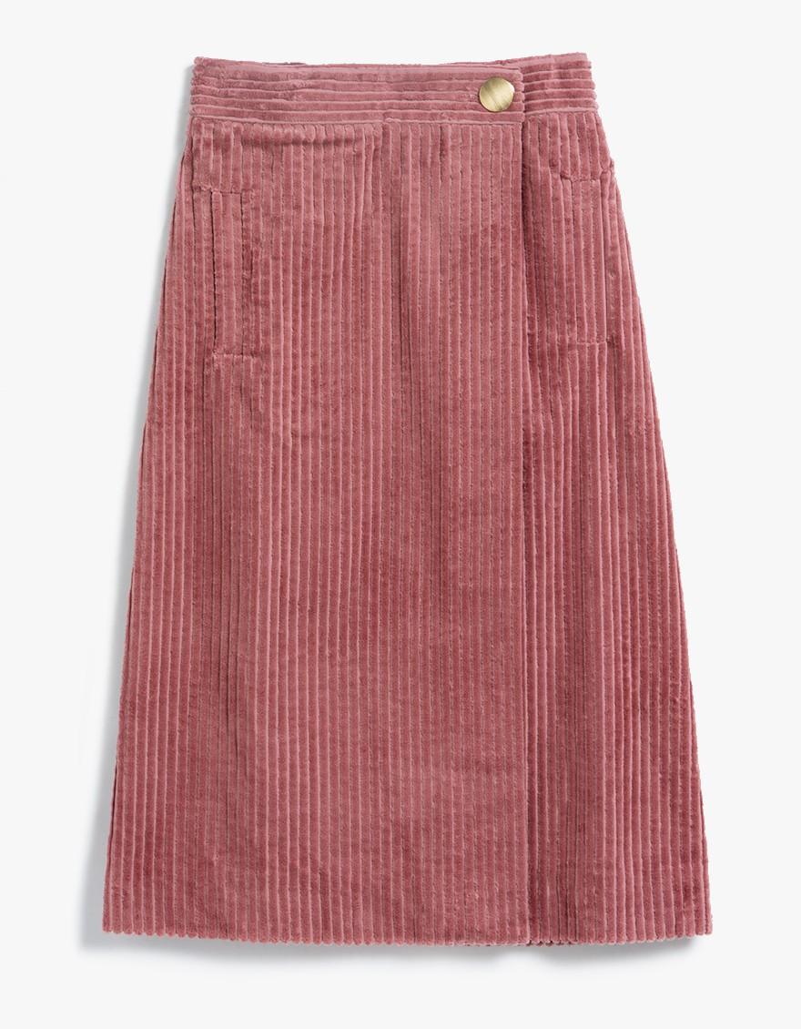 Tibi Corduroy Wrap Skirt $375