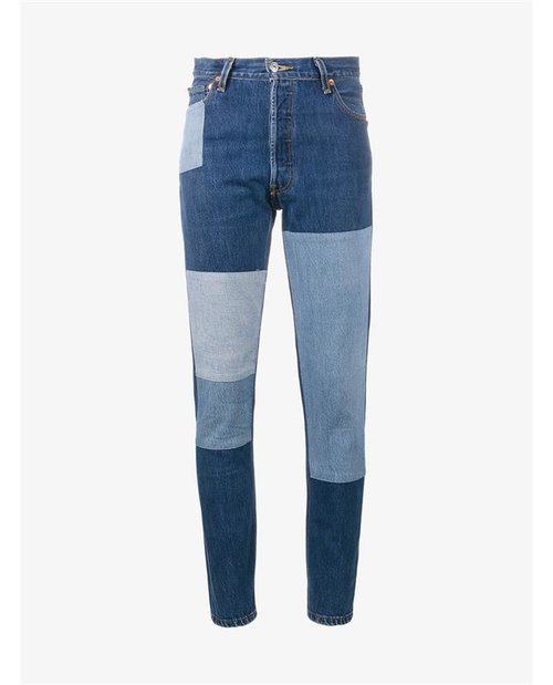 Re Done High Rise Patchwork Jeans $520