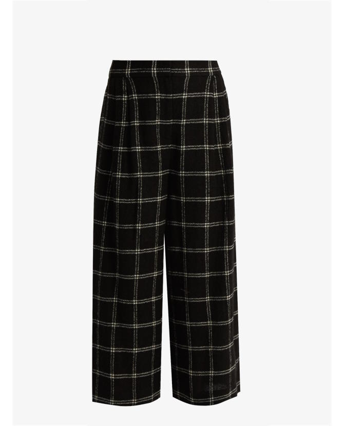 Tibi Checked wide-leg wool-blend culottes $648
