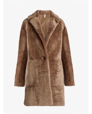 Helmut Lang Reversible shearling coat $3,174