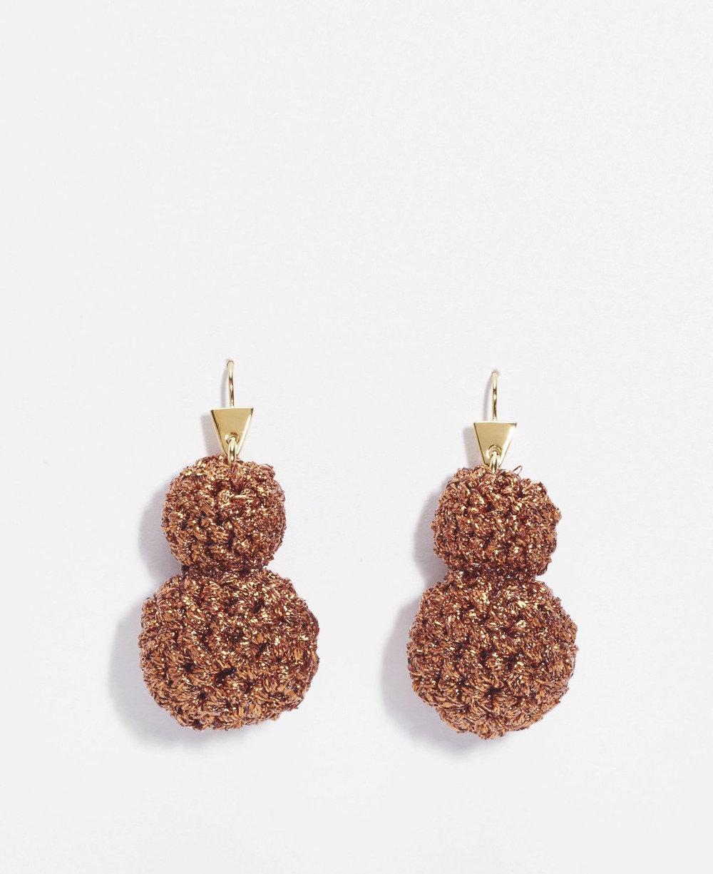 Lucy Folk Rock formation earrings in copper $325
