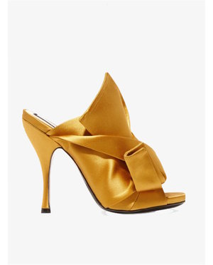 No. 21 Knotted satin mules $712