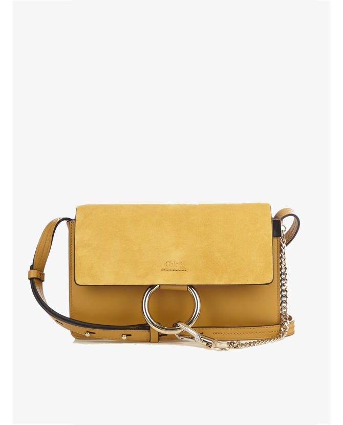 Chloe Faye small suede and leather shoulder bag (pre order)