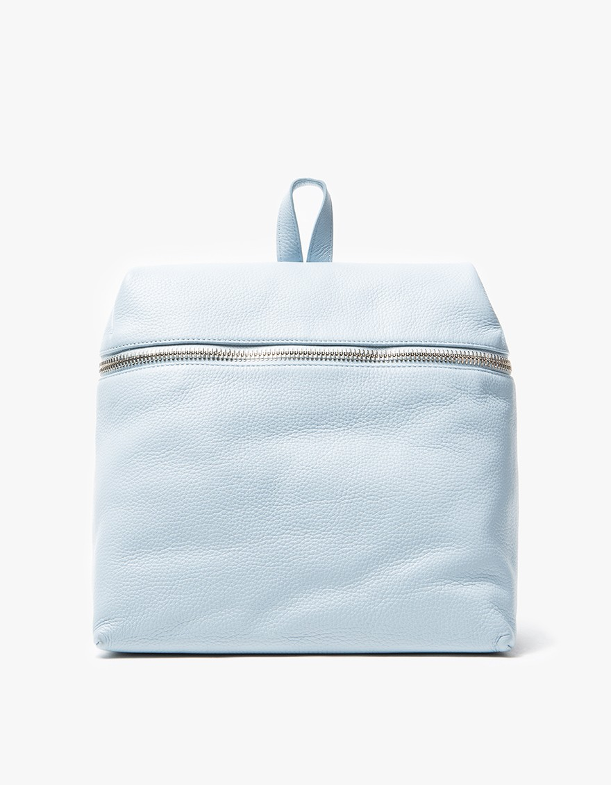 Kara Sky Blue Pebble Backpack $525
