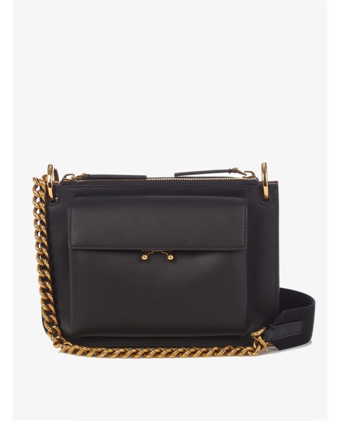 Marni Trunk bi-colour leather cross-body bag $1,310