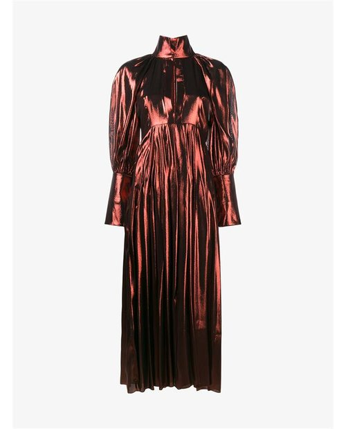 Ellery Metallic Silk Lamé Dress $2,800