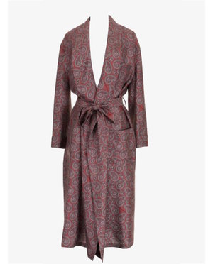 Burberry Red paisley dressing gown $2,432