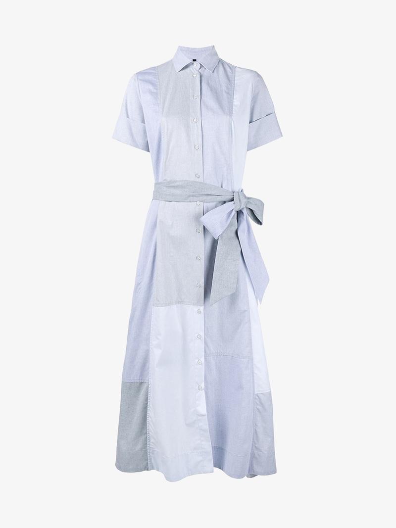 Lisa Marie Fernandez Cotton Patchwork Shirt dress $611