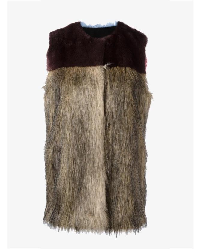 MSGM Fur Gilet $196
