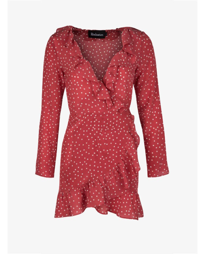 Realisation Par Alexandra Dress in Red Star $195