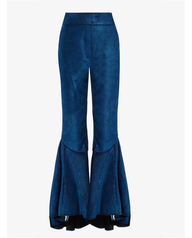 Ellery Hysteria ruffled cuff cropped corduroy trousers $2,294