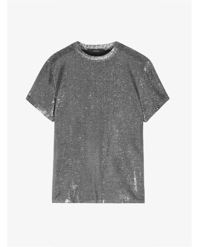 ellery metallic silver top