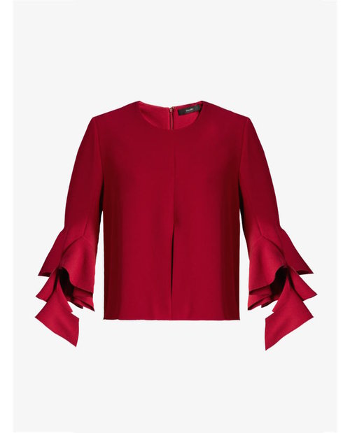 Ellery Neu deconstructed bell-sleeved crepe top $752