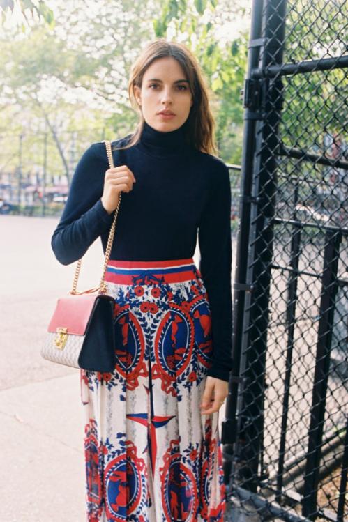 Gucci Pleated printed jacquard midi skirt $1,976