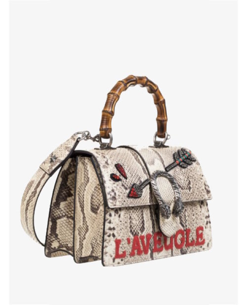 Gucci Dionysus small bamboo-handle python bag $6,375