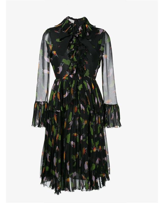 Gucci Toucan print riffle dress $4,549