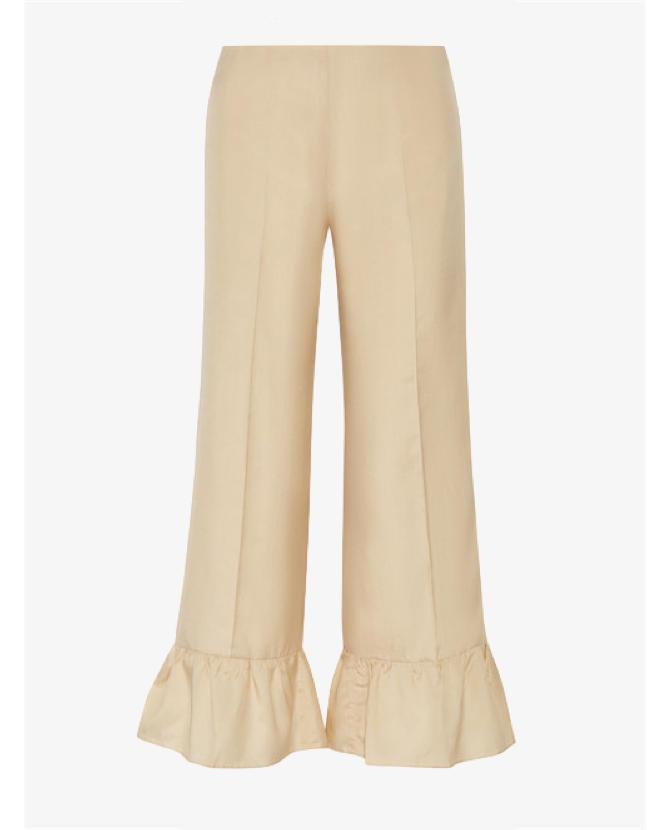 Gucci Ruffled silk flared pants $1,095