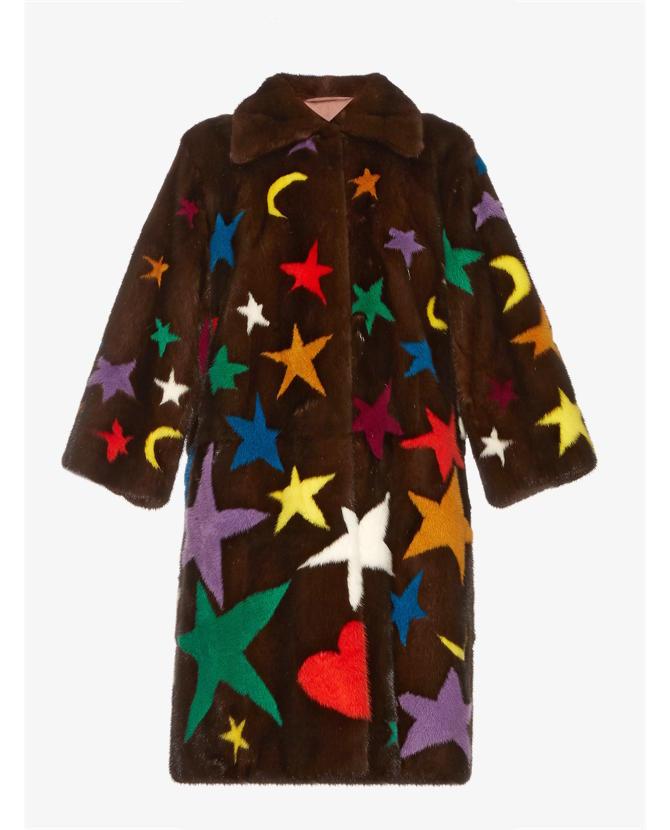 Gucci Symbol-intarsia mink-fur coat $33,612
