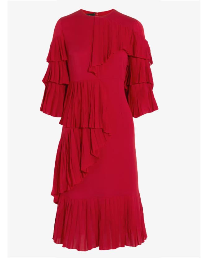 Gucci Ruffled silk-georgette dress $5,740