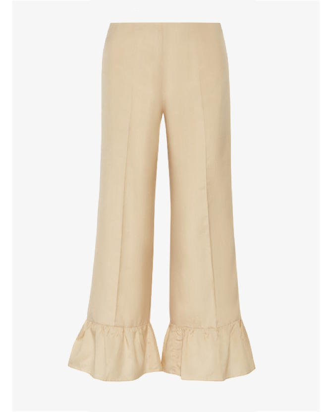 Gucci Ruffled silk flared pants $1,095