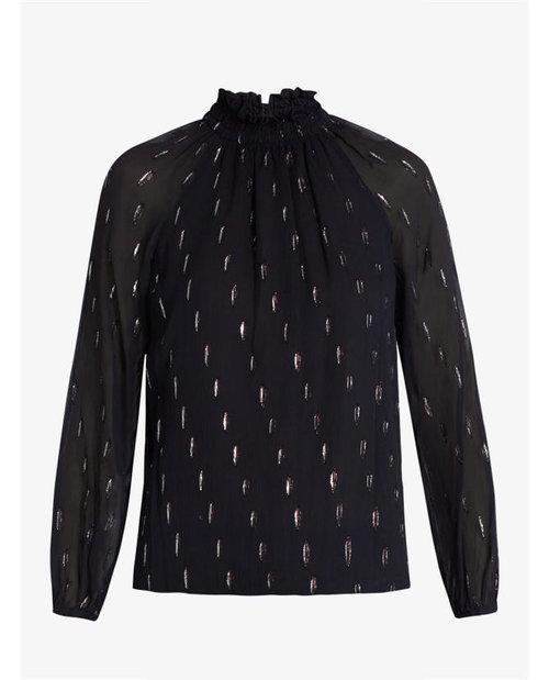 Rebecca Taylor Gathered fil coupé silk-blend blouse $471