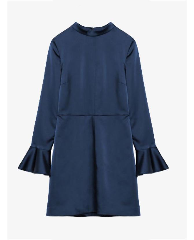Zara Sateen open back dress $50