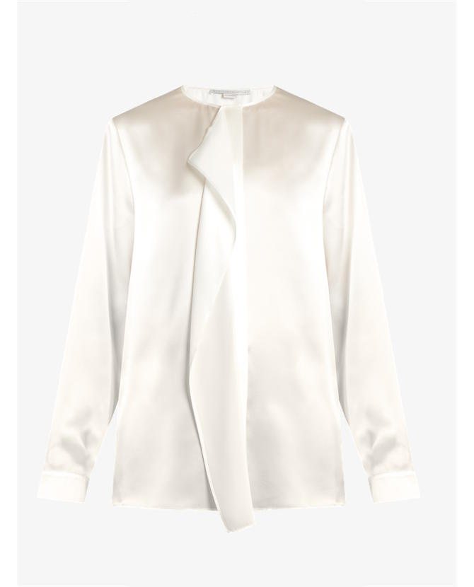 Stella McCartney Goldie ruffled silk-satin blouse $1,100